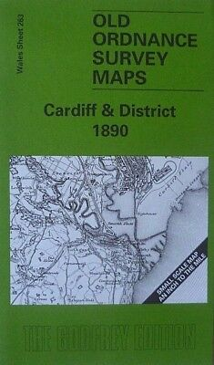 OLD ORDNANCE SURVEY MAPS CARDIFF & DISTRICT 1890 & Map of Llanishen Sheet 263