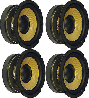 "4 x WOOFERS 6.5"" 8 ohms SPEAKERS HIGH POWER 250W WITH Aramid fibre CONE 902.423"