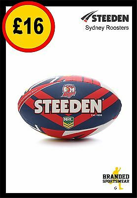 Steeden Sydney Roosters NRL Team Supporter Rugby Ball Size 5 NEW