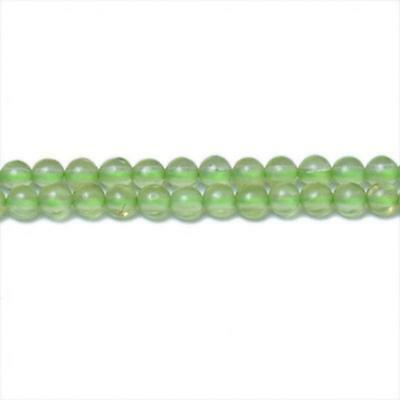 Strand Of 120+ Green Peridot 3mm Plain Round Beads CB31344-2