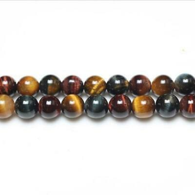 Strand Of 62+ Mixed Tiger Eye 6mm Plain Round Beads GS0382-1