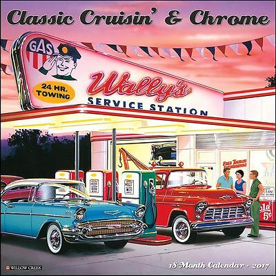 Classic Cruisin' and Chrome Wall Calendar