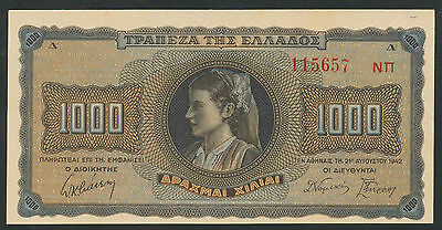 Griechenland / Greece 1000 Drachmen 1942 Pick 118 (1)