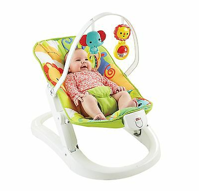 Fisher Price Rainforest Friends Fun n Fold Bouncer Baby Chair Seat New