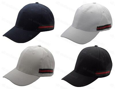 Mens Plain Designer Baseball Cap Adjustable Strap Adults Cricket Golf Peak Hat