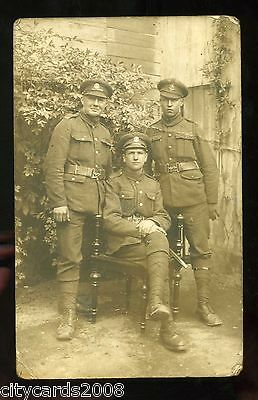 Military   Middlesex Regiment ?  Group of three soldiers  RP
