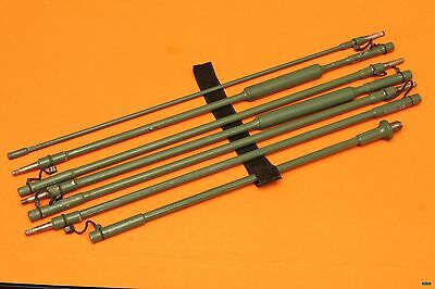 MILITARY HF MANPACK COLLAPSIBLE WHIP 7 ELEMENT ANTENNA appx 8.43 ft