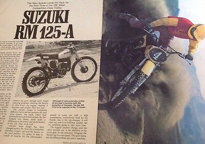 6 Pages Race Test Report On 1976 Suzuki RM125A Motocross Bike