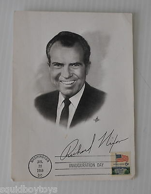 - Richard Nixon 1969 Inauguration Day First Day Issue Picture Us -