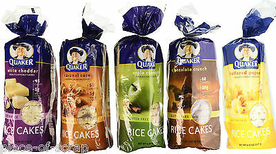 Quaker Rice Cakes U Pick Flavor Apple Chocolate Caramel Corn Popcorn Gluten Free