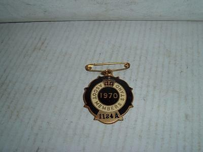 1970 Ascot Race Club Horse Racing 1124A Members  Badge Used See Pics