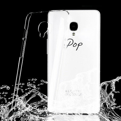 New Crystal Clear hard case DIY cover for Alcatel OneTouch POP UP