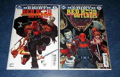RED HOOD AND THE OUTLAWS #1 rebirth variant & reg 1st print set DC COMIC 2016 NM
