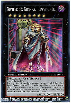 CT10-EN013 Number 88: Gimmick Puppet of Leo Super Rare Mint YuGiOh Card
