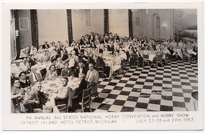 Real Photo Postcard 1957 Hobby Convention & Show in Detroit, Michigan~107167
