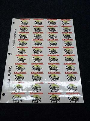 "Fruitopia Strawberry Passion Stickers Sheet Of 40 - 1.75"" x 1"" New (pt840)"