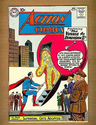 Action Comics 271 (Q) DC 1960 SUPERMAN Supergirl Dimension X Silver Age (c#08223