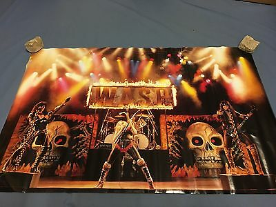 WASP in concert Poster 1985 22x34 NICE RARE  W.A.S.P.