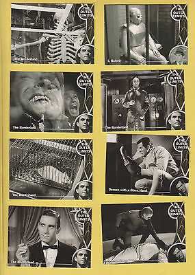 Lot of 8 Outer Limits TV show vintage trading cards, Pub. 2002