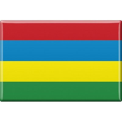 Fridge magnet new Shield magnetic Flags the world Mauritius 38082