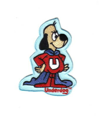 Underdog Animated TV Show Standing Figure Die-Cut Embroidered Patch NEW UNUSED