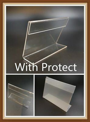 20x Clear Acrylic Sign Display Holder Price Tag Label Stand 5cm x 7.5cm 2x3 inch