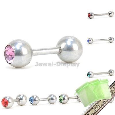Straight Barbell Eyebrow Piercing Body Jewellery JB123 Colour Choice