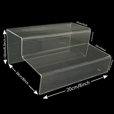 2PCS X Clear Acrylic Staircase Retail Display Stand Rack Shoe Sandals