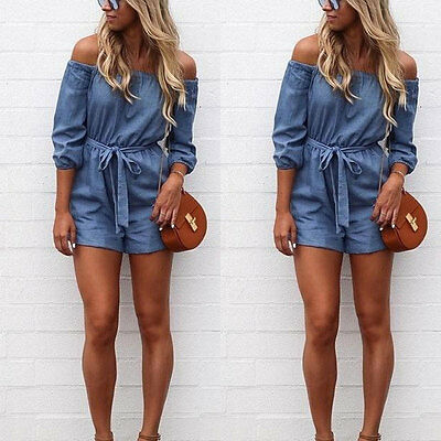 New Women Summer Playsuit Bodycon Party Jumpsuit Romper Trousers Beach Shorts