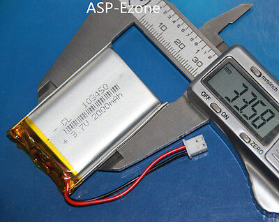 3.7V 103450 2000mAh Polymer Battery  PCM Rechargeable