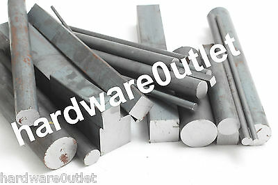 Steel Off Cuts SOLID Round Square Bar Flat Bar Mild Steel Sections BARGAIN