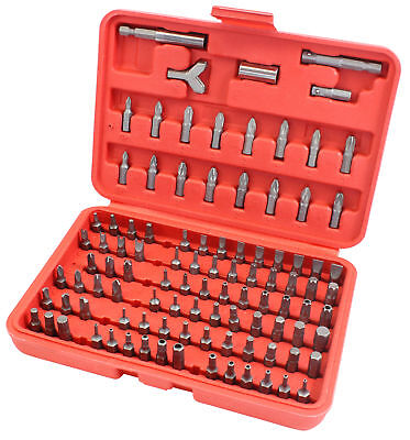 100pc Professional Security Screwdriver Tamperproof Torx Hex Bit Set + Red Case