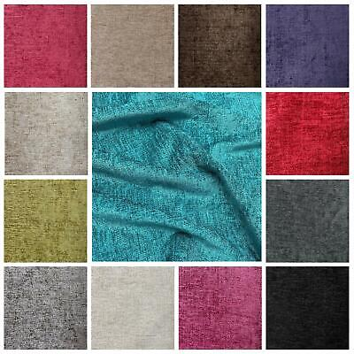 Designer Luxury Thick Heavy Weight Curtain Upholstery Chenille Velvet Fabric