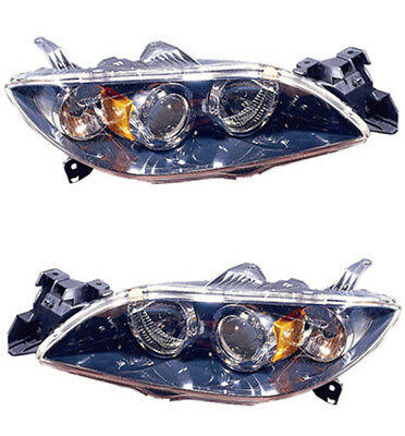 New Direct Replacement Pair of Headlight Assembly Housing Left and Right