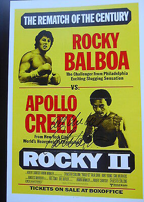 ROCKY star personally signed 14x11 - CARL WEATHERS who played APOLLO CREED