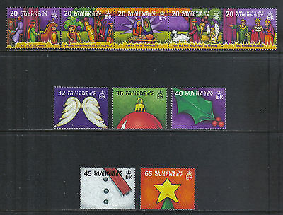 Guernsey 2004 Christmas--Attractive Art/Music Topical (849-54) MNH