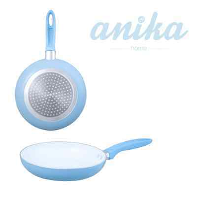 New 20cm Sky Blue Ceramic Frying Pan With Non Stick Handle and Round Shape 67230