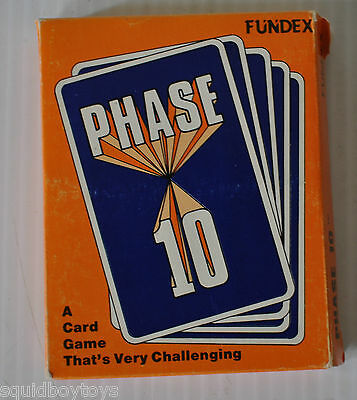 PHASE 10 Fundex CARD GAME 1986 Complete
