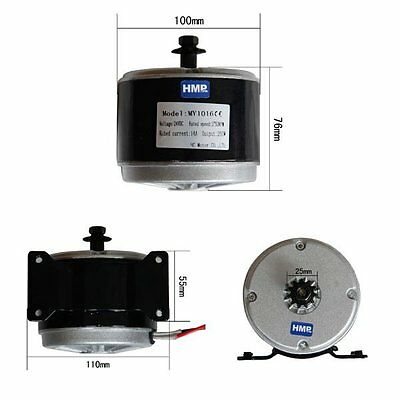 HMParts E- Scooter / Electric Motor / 24 V 250 W Top