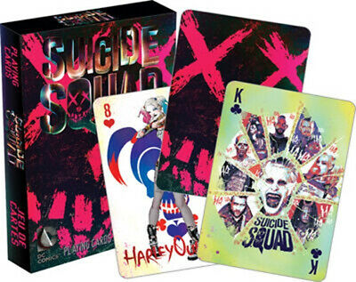 DC Comics Suicide Squad Movie Illustrated Poker Playing Cards Deck, NEW SEALED