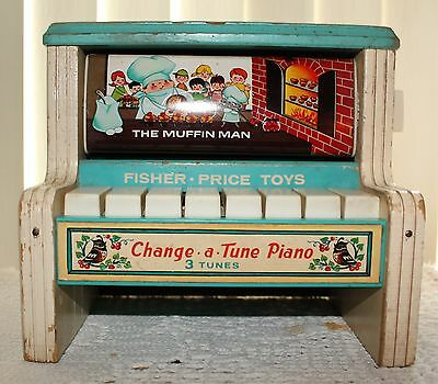 Vintage 1969 Fisher Price Toys Change a Tune Piano Made In Japan # 910