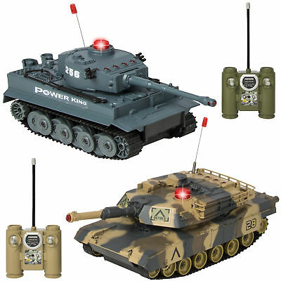 RC Remote Control Battling Tanks Set of 2 Full Size Infrared Perfect Gift