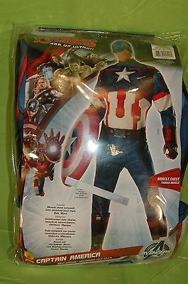 Marvel Avengers Age Of Ultron Deluxe Captain America Costume Adult Size Standard