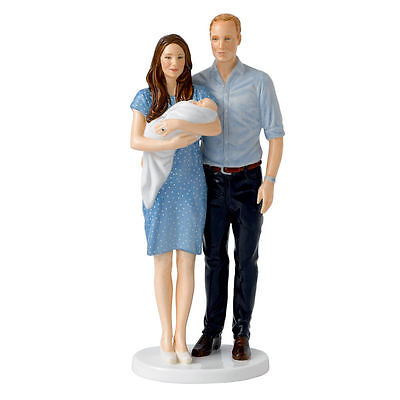 Royal Doulton The Royal Baby Prince George With Parents William and Kate HN5716