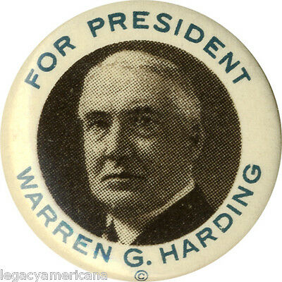 Classic 1920 Warren G. Harding for President Campaign Button (4602)