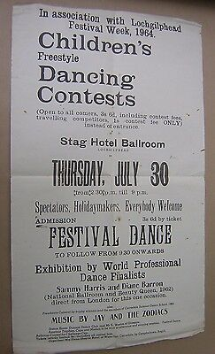 Children's Dancing Competition Poster 1964. Lochgilphead Festival.