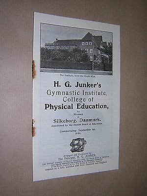 H G Junker's Gymnastic Institute College Of Physical Education. 1934 Brochure