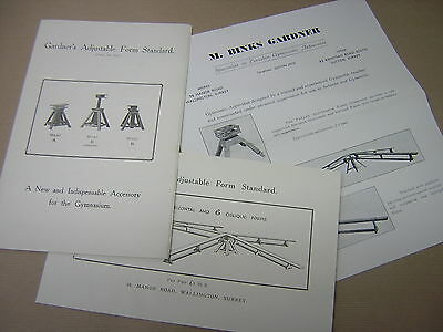 1934 Gymnasium Apparatus  Brochure Price List. M B Gardner. Surrey. 1934