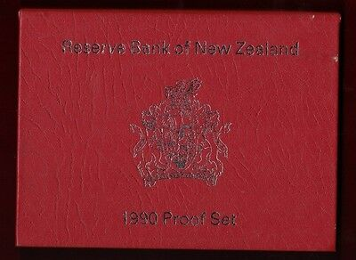 1990 New Zealand Proof Coin Set, Reserve Bank of New Zealand