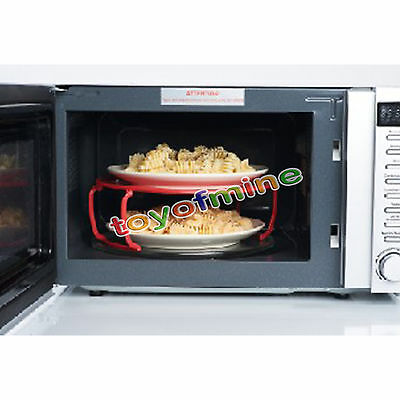 Home Convenient Microwave Plastic Stand Stacker Cooking Rack